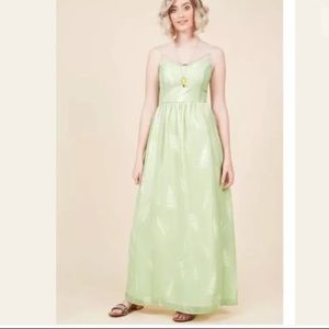Modcloth Light Green Fern Maxi Dress